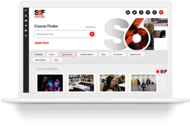 web design and development of the 6th form college