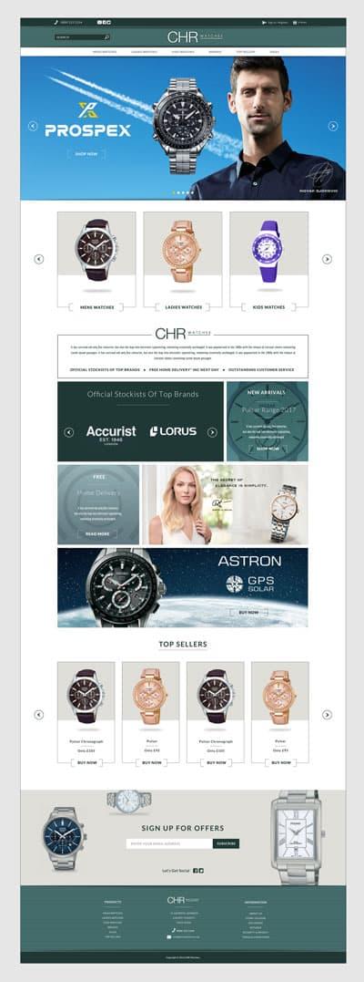 CHR-watches-web-design